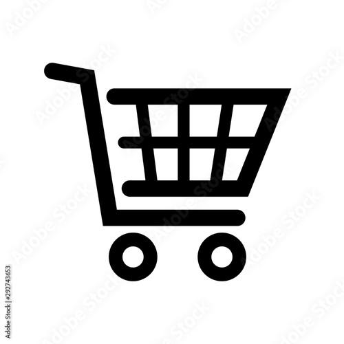 Photo wózek sklepowy ikona