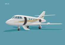 Private Jet Vector Icon. Busin...