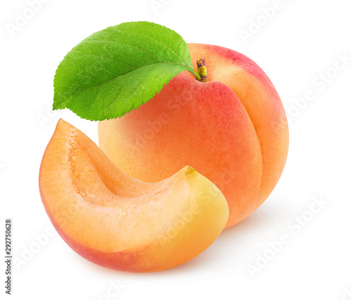 Isolated apricot Fototapet
