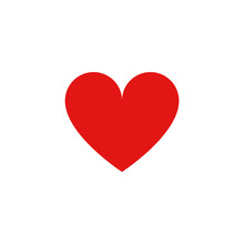 Heart Vector Icon. Perfect Love And Likes Symbol And White Background