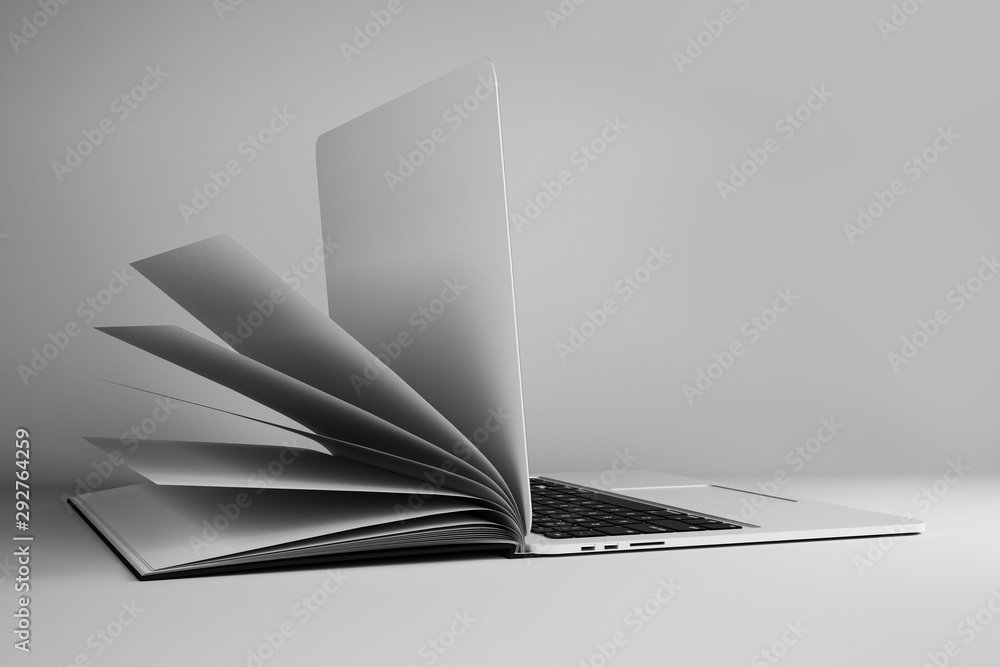 Fototapety, obrazy: Abstract open book notebook
