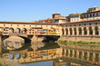 The Ponte Vecchio which spans the Arno river in Florence, city in central Italy and birthplace of the Renaissance, it is the capital city of the Tuscany region, Italy