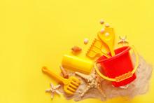Kid Beach Toys With Sand On Co...