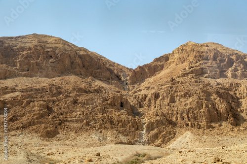 Caves Carved Into the Hills, Qumran National Park, Israel