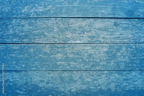 Photo sur Aluminium Graffiti collage blue vintage wood texture table background