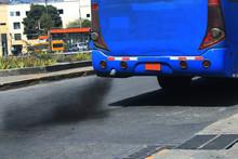 An Auto Bus Polluting The Envi...
