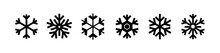 Snowflakes Icon Set Isolated O...