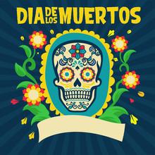 Dia De Los Muertos Design Surr...