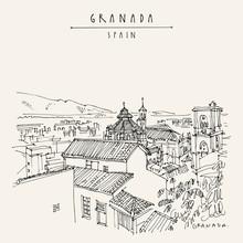 Granada, Andalusia, Spain. Han...