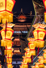 Lantern Festival During The Chinese New Year In YuYuan Garden.Shanghai.China