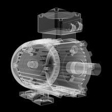 Electric Motor X-Ray Style