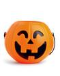 canvas print picture - pumpkin toy basket for Halloween seasons.plastic pumpkin, trick or treat, seasonal celebration.
