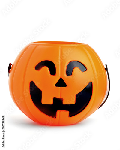 Cadres-photo bureau Fleur pumpkin toy basket for Halloween seasons.plastic pumpkin, trick or treat, seasonal celebration.