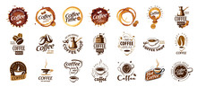 Set Of Coffee Logos. Vector Illustration On White Background