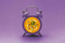Pumpkin Food Concept. Purple A...
