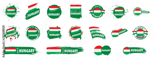 Fotografie, Obraz Hungary flag, vector illustration on a white background