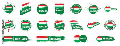 Fotografía Hungary flag, vector illustration on a white background