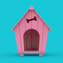 Pink Cartoon Dog House Mockup ...