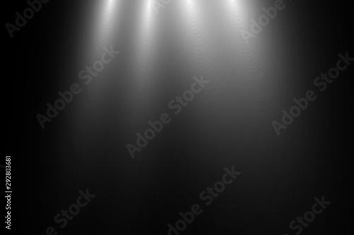 Fototapeta Vector transparent sunlight.Vector scene illuminated by spotlight . Light effect on transparent background obraz na płótnie