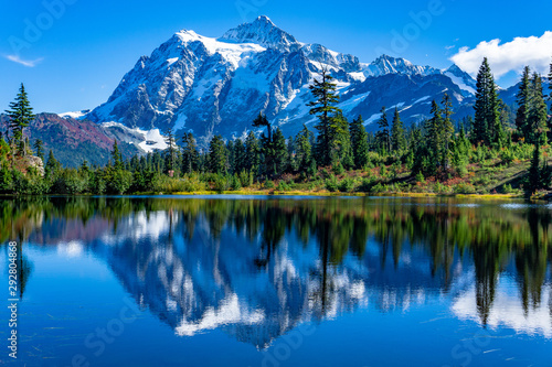 Picture Lake Reflection of Mount Shuksan