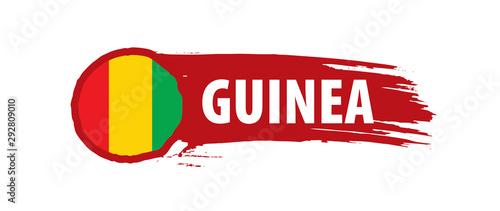 Cuadros en Lienzo guinea flag, vector illustration on a white background