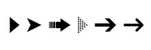 Arrow Icon. Set Of Black Isola...