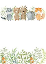 Watercolor Forest Card.