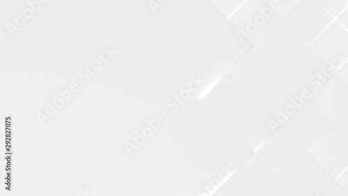 Fototapety, obrazy: White Business Style Background With Copy Space (3D Illustration)