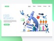 Food research vector website landing page design template