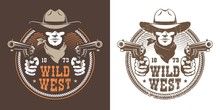Cowboy With Guns - Wild West V...