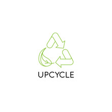 Vector Logo Design Template And Emblem In Simple Line Style - Upcycle