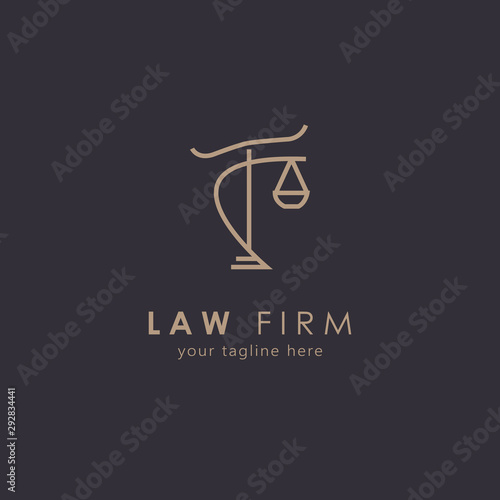 Law firm logo with modern concept Canvas Print