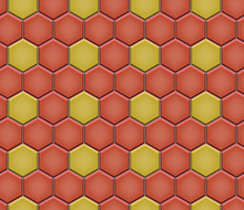 Seamless Pattern Of Hex Cobble...