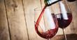 Leinwanddruck Bild - Pouring a red Bordeaux wine from Garonne France