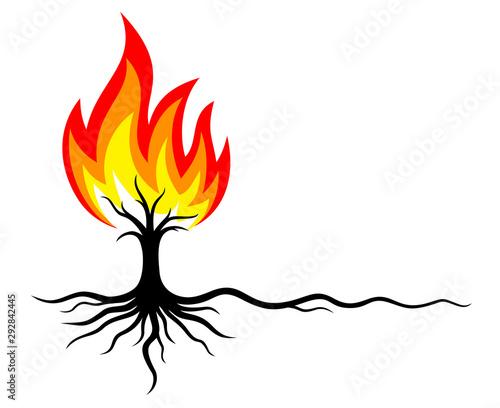 Obraz na plátně The Symbol of burning forest.