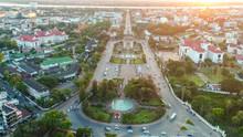 Top View Of Vientiane,Patuxai ...