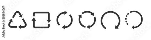 Obraz na plátne recycle symbol collection