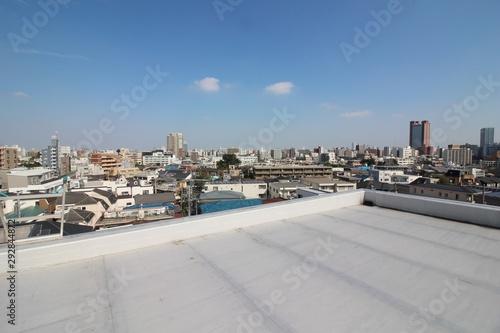 Obraz na plátne 屋上防水と住宅地の眺望