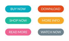 Button Set For Web Design. Cal...