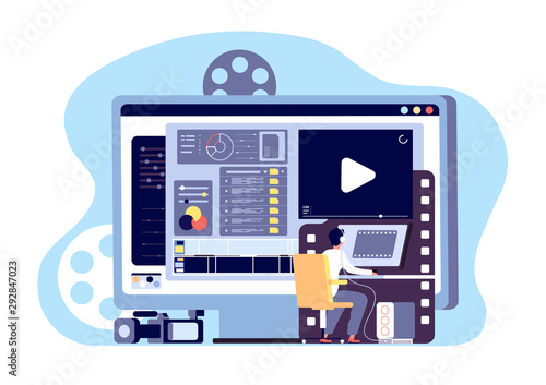 Valokuvatapetti Video editor concept