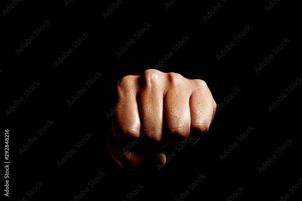 Fototapeta Punch. Black background. パンチ 黒背景