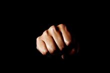 Punch. Black Background. パンチ 黒背景