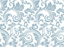 Flower Pattern. Seamless White...