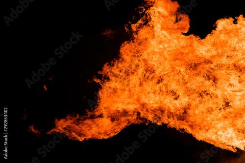 Foto op Aluminium Vulkaan Great fire flame background texture