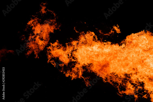 Blazing fire flame background and texture