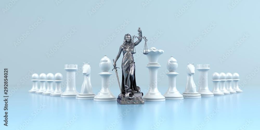 Fototapeta Erfolgreiche Strategie bei einem Rechtsstreit