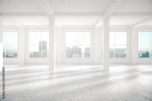 Fototapeta Light interior with columns obraz