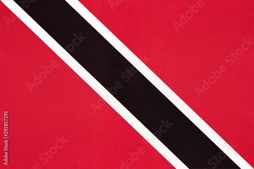 Photo sur Toile Amérique du Sud Trinidad and Tobago national fabric flag, textile background.