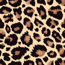 Trendy Leopard Seamless Pattern Brown