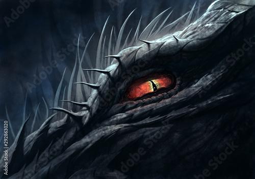 Oko smoka ilustracji